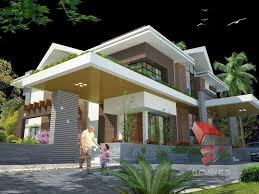 Interior And Exterior Home Design House 3d Interior Exterior Design Rendering Modern Home Designs