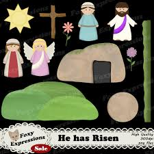 he has risen clip art is great for kids and crafts it comes with