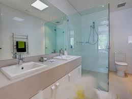 Bathroom Design With Twin Basins Using Glass Bathroom Photo - Glass bathroom