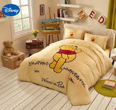 bedding and home decor yellow disney cartoon winnie the pooh bedding sets for children s