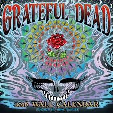 grateful dead 2018 wall calendar aquarius 9781554843664 amazon