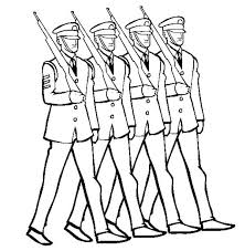 veterans day coloring pages printable celebrating veterans day by marching in uniform coloring page