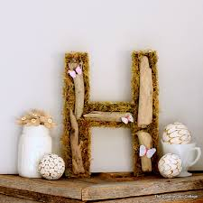 Monogrammed Home Decor Driftwood Monogram Art The Country Chic Cottage
