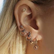 xiufen 4 pcs fashion simple geometric element ear studs creative