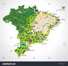 city map of brazil map brazil all capitals cities brazil stock vector 106786310