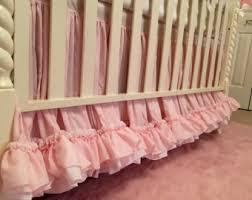 pink crib skirt etsy
