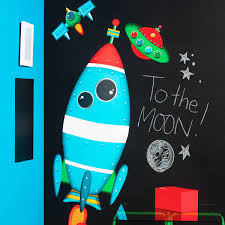 kinderzimmer 24 wandsticker rakete weltall wallplay kinderzimmer
