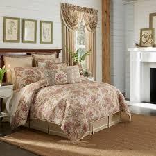 camille ecru jacobean floral comforter bedding by croscill