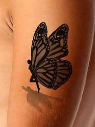 3d butterfly with skulls 3d tattoos and
