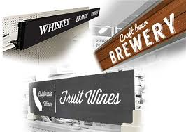 commercial wine racks liquor store layout design and signage