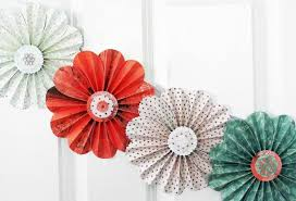 Flower Home Decoration by So Cute Paper Flowers Garland Coral Green Party Home Decor Photo