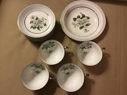 white china pattern 3939 white platinum trim china japan pattern 3939 9 saucers