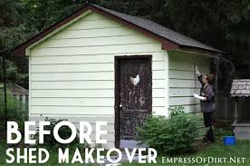 shed makeovers how to makeover a garden shed with paint and decor empress of dirt