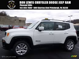 dodge jeep white 2017 alpine white jeep renegade latitude 4x4 117509623 gtcarlot