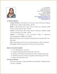 bio data format for teacher job resume template example