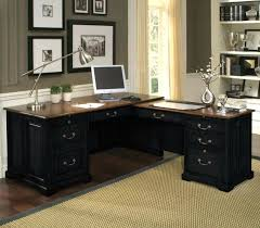 Black Glass Computer Desks For Home Black Glass Computer Home Office Desk Corner Pc Table Top Photo