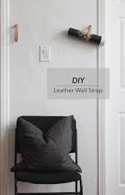 Furniture Wall Straps Diy Copper And Leather Hanging Clothing Rack U2014 Hometohem