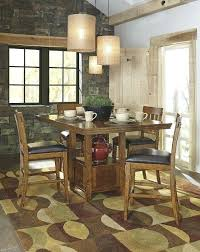 dining sets rustic counter height dining table sets 5 piece rustic