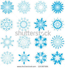 cold crystal snowflakes background vector stock vector 19852837