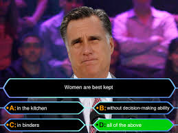 Binders Full Of Women Meme - who wants to be a millionaire binders full of women