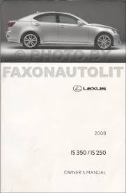 2008 lexus is 350 is 250 repair shop manual set original