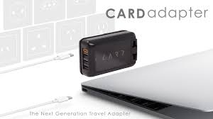card adapter the first travel adapter with type c charger by