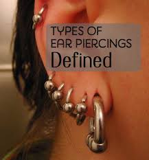 a guide to different ear piercing types and their tatring