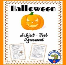 halloween subject verb agreement grammar worksheet by happyedugator