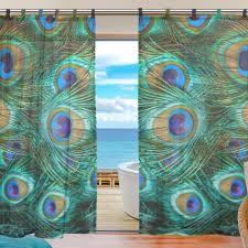Peacock Curtains Peacock Eyelet Curtains 3 Color Combinations Peacock Curtains