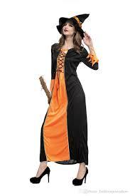 pumpkin costume women witch orange dress pumpkin costume party