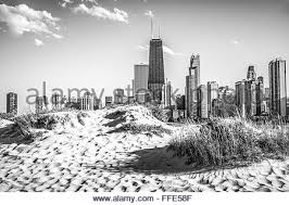 picture of chicago beach and chicago skyline at north avenue beach