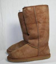 ugg s mammoth boots s ugg australia mammoth fringe suede boots chestnut