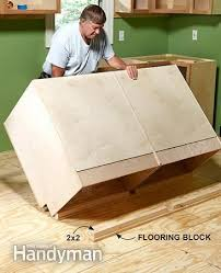 Installing Base Cabinets On Uneven Floor How To Install Cabinets Like A Pro U2014 The Interiors Kitchen Wall