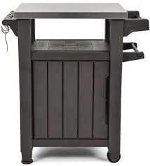 outdoor grill prep table 40 gal grill prep serving table bbq work station cart w patio