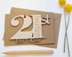 21st birthday card etsy