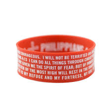 bracelet silicone images Christian wristband red silicone bracelet shields of strength jpg