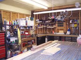 garage diy large garage workbench ideas made from wood designs