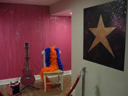 the glitter stage wall and shining star fine art murals custom
