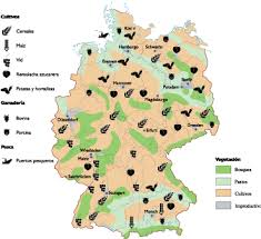 map of germany germany land use map our cartographers made germany land