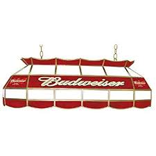 budweiser stained glass pool table light amazon com budweiser stained glass 40 inch pool table light home
