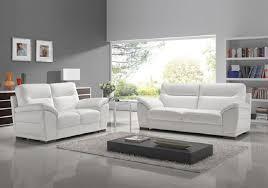 canapé design blanc canapé cuir design blanc calino canapé salon cuir découvrir