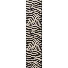 Zebra Runner Rug Animal Print Runner Area Rugs Rugs The Home Depot