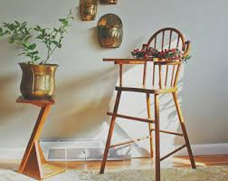 Antique Wood High Chair Wooden High Chair Etsy