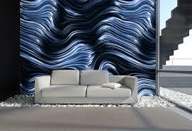 Blau Schwarz Muster Designtapeten In Schwarz