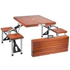 Small Portable Folding Table Wooden Folding Picnic Table Facil Furniture
