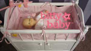 badger basket doll crib with cabinet bitty baby crib unboxing badger basket crib by badger toys youtube