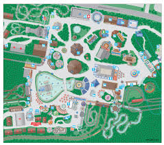 University Of Arkansas Campus Map Wayfinding City Park And College Campus Map Illustration U0026 Design