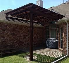 Backyard Arbor Single Post Backyard Arbor Pergola In Frisco Texas Hundt Patio