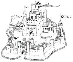 Free Sand Castle Coloring Pages Kids Page Medieval Middle Ages Coloring Pages Castles