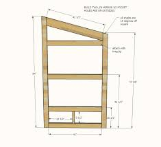 Free Instructions On How To Build A Platform Bed by Ana White Outhouse Plan For Cabin Diy Projects